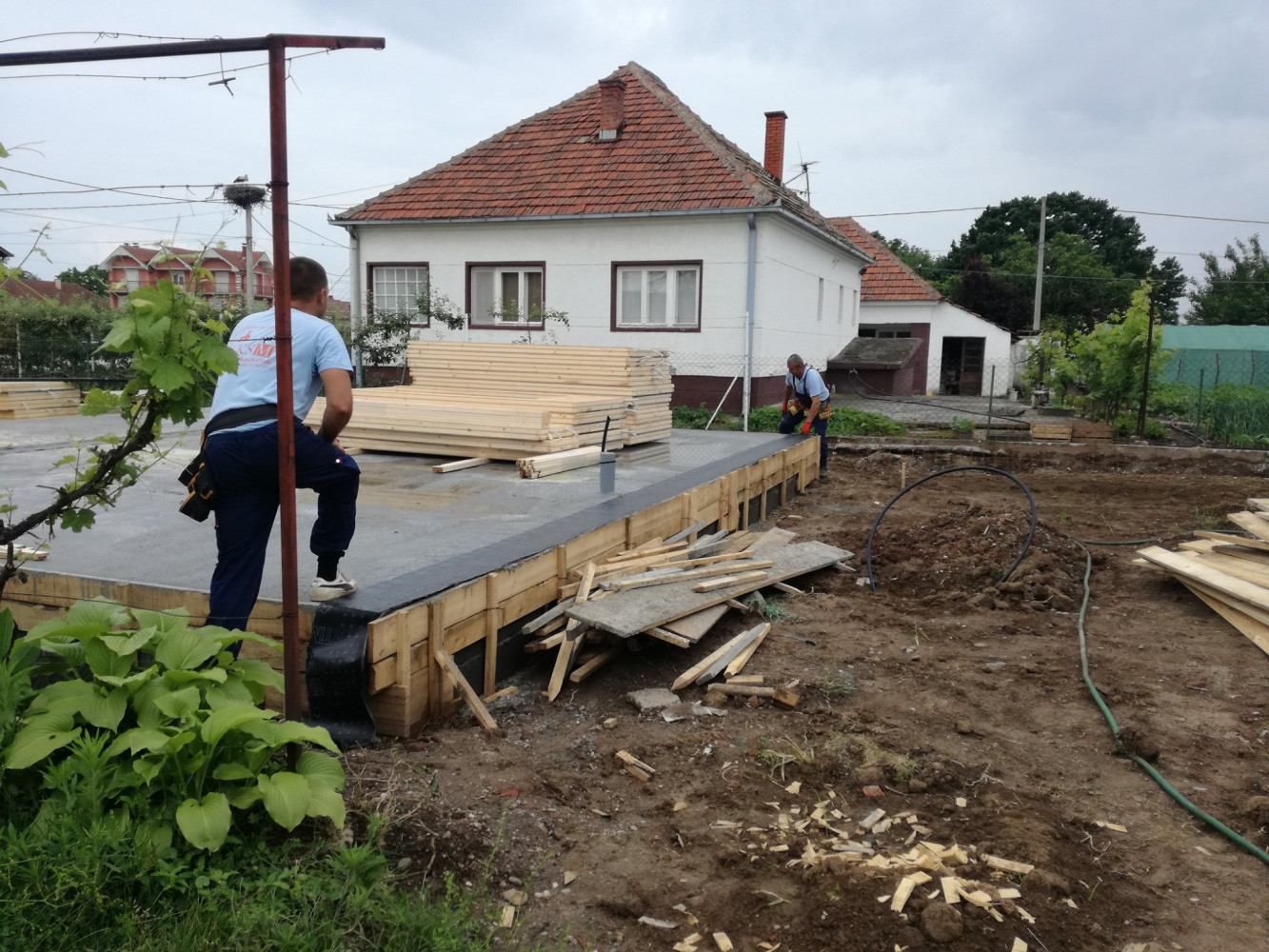 Montažna kuća u izgradnji 2